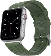 Amazon.com: AhaStyle Man iWatch Bands Compatible with Apple Watch 38mm 40mm  42mm 44mm, Silicone Sport Watch Strap Replacement for Apple Watch Series  5/4/3/2/1(Army Green, 38mm/ 40mm)
