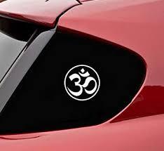 Amazon Com Slap Art Aum Yoga Om Symbol Circle Vinyl Decal Bumper Sticker Drifting Drift Jdm Automotive