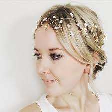 bridal headpiece hair vine gold