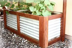 How To Build Diy Planter Container With Corrugated Steel Thediyplan