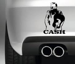 Johnny Cash Funny Bumper Sticker Car Van Jdm Decal Drift Vinyl Graphic Wish