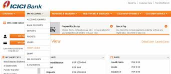 how to link icici bank credit card to