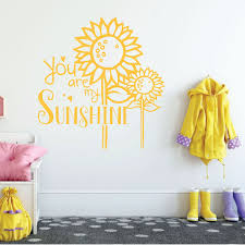 Sunflower Wall Decal You Vinyl Decor Wall Decal Customvinyldecor Com