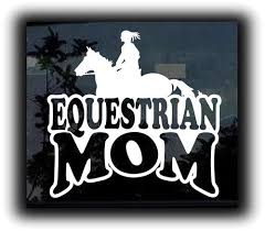 Equestrian Horse Mom Girl Stickers For Cars 7 Inch Customstickershop On Artfire