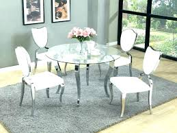 white leather chairs dining room