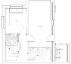 500 sq ft with a garage but seems bigger