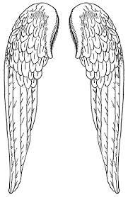 Angel Wings Kleurplaten Vleugels En Stencil Sjablonen