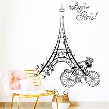 Amazon Com Paris Wall Decal Eiffel Tower Sticker France Decal Fashion Sticker Beauty Decals Gift For Her Gift For Him Bedroom Decor Ga267 Handmade