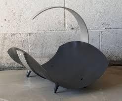 holder fireside metal wood bin basket