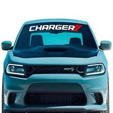 Fashionmz Charger Window Decal V8 V6 Scat Pack Xst Rt Vinyl Graphics Dodge Hellcat Sedan Lettering