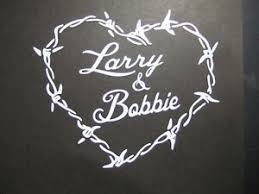 Personalized Barbed Wire Heart Vinyl Decal With Your Custom Names Die Cut Decal Ebay