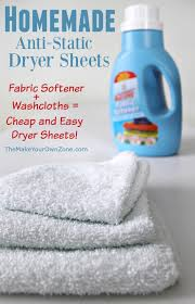 make your own dryer softener sheets