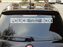 Dr Who Police Box Bad Wolf Car Wall Decal By Stickitstickers 7 50 Want To Turn Your Door Or Other Belonging Into Car Decals Police Box Family Car Decals