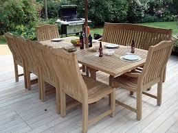 extending teak garden dining table