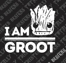 I Am Groot Guardians Of The Galaxy Vinyl Decal Car Truck Motorcycle Marvel Ebay