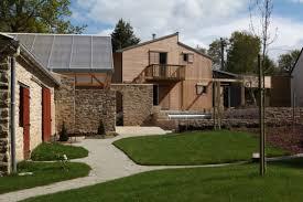 maison bois pierre bioclimatique en