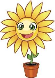 Pretty Happy Kawaii Flower Cartoon In Pot Yellow Sunflower Vinyl Dec Shinobi Stickers