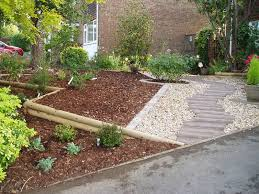 front sloping garden