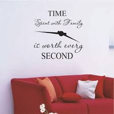 Time Spent With Family Is Worth Every Second Wall Decal Fire Wish