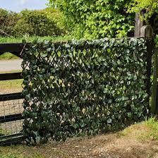 Screening True Artificial Maple Leaf Ivy On Expanding Willow Trellis 1m X 2m