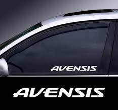 2 X Toyota Avensis Window Decal Sticker Graphic Colour Choice Wish