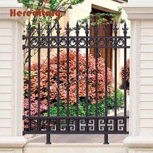 China Outdoor Wrought Iron Security Powder Coated Courtyard Metal Aluminum Fence Post China Garden Security Fence And Aluminum Garden Fence Price