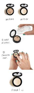 powder makeup without rubbing alcohol
