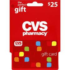 cvs pharmacy gift card 25 pra