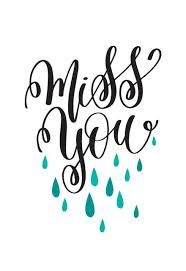 Miss You Drops - Miss You Card (Free) | Greetings Island