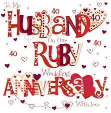 40th wedding anniversary wishes
