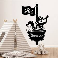Mega Discount C67d Free Shipping Pirate Custom Name Wall Stickers Decorative Sticker Home Decor Removable Wall Sticker Decor Wall Decals Cicig Co
