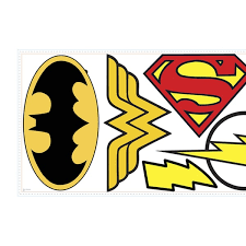 Roommates Decor Dc Superhero Logos Giant Wall Decals Groupon
