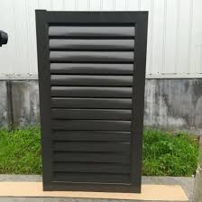 China Powder Coated Fencing Top Quality Modern Design Aluminum Fencing Steel Metal Louver Fence Gate For Residential Villa Commercial Market China Louver And Fence Gate Price