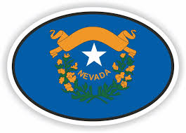Nevada Flag Oval Sticker Bumper Decal Car Helmet Laptop For Sale Online