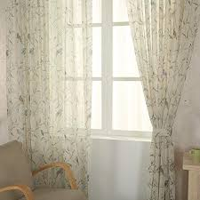Amazon Com Pureaqu Kids Room Floral And Birds Print Home Design Rod Pocket Sheer Curtains Drapes For Living Rom Bedroom Kitchen Window Elegant Voile Sheer Panels Treatment 1 Panel W52 H63 Inch Home