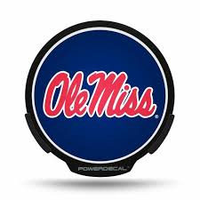Powerdecal Pwr160201 University Of Mississippi Ole Miss Backlit Led Decal