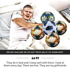 """Image result for Haaland with balls hattrick"""""""