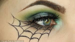 halloween spider themed make up