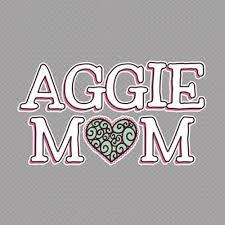 Texas A M Aggie Mom Heart Decal The Warehouse At C C Creations