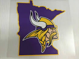 Minnesota Vikings Window Die Cut Decal Colored State Wincraft Sticker 8x8 Ebay