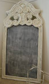 re purposed old mirror chalkboard
