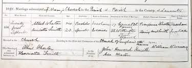 Marriage Certificates: Albert Wharton and Henrietta Smith 21 Sep ...