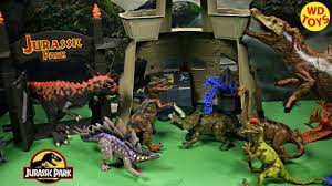 New 6 Knockoff Jurassic Park Jurassic World Dinosaur Toys Command Compound Dinosaur Zoo Unboxing Youtube