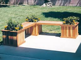 planter bench furniture plan 066d 0019