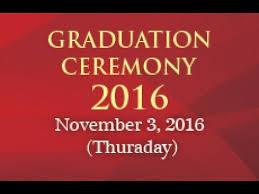 graduation ceremony vote of thanks by mr anthony jim