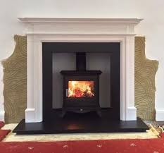 wood burning stove installation with
