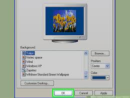 desktop background in windows