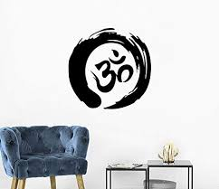 Amazon Com Zen Circle Wall Decal Om Symbol Vinyl Sticker Decals Buddhism Enso Wall Decor Meditation Yoga Wall Art Zen Circle Bedroom Decor C555 Handmade