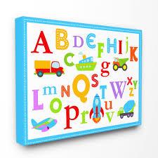 Stupell Industries Rainbow Alphabet Transportation Icons Canvas Wall Art Reviews Wayfair