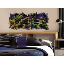 Roommates Teenage Mutant Ninja Turtles Trouble Graphic Peel And Stick Wall Decals Walmart Com Walmart Com